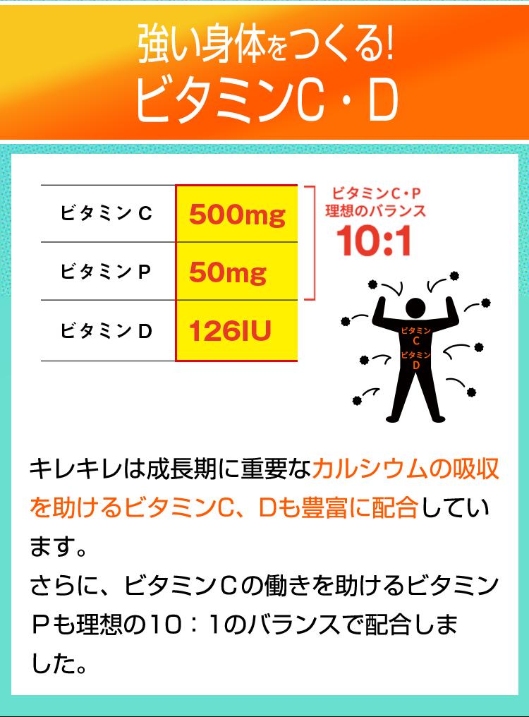 体づくりと免疫機能にかかわるビタミンC・D